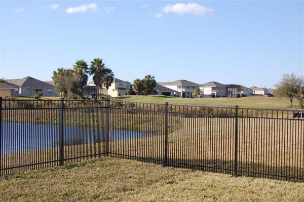 fence corner by pond
