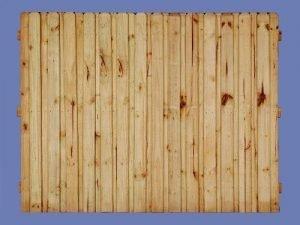 6 h x 8 w PT pine board on board