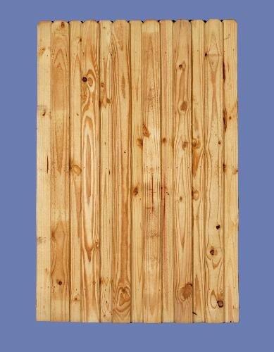 "6 h x 4 w PT pine board on board walk gate (1/2"" picket on 2 x 4 back rail)"