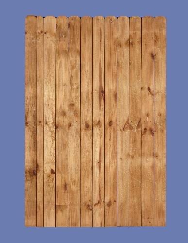 "6 h x 4 w PT pine stockade walk gate (1/2"" picket on 2 x 4 back rail)"