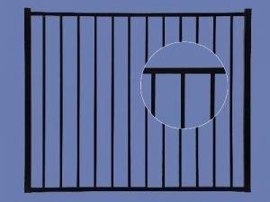 Aluminum Gate 4h x 5w 2-Rail – BLK