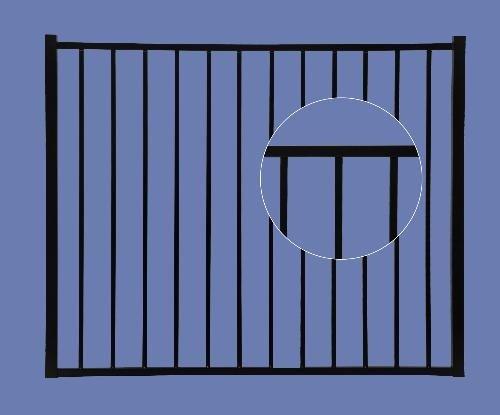 Aluminum Gate 4h x 5w 2-Rail - BLK