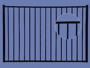 Aluminum Gate 4h x 6w 2-Rail – BLK
