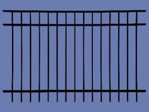 aluminum section 5h x 6w 3 rail flat top 5/8″ – BLK