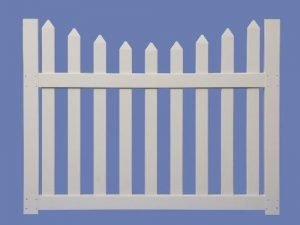 4 X 5 CONTEMPORARY SCALLOP WALK GATE FOR 4 HIGH 7/8 X 3 PICKET SHARP – WHT