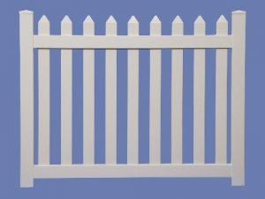 4 X 5 CONTEMPORARY STRAIGHT WALK GATE FOR 4 HIGH 7/8 X 3 PICKET SHARP – WHT