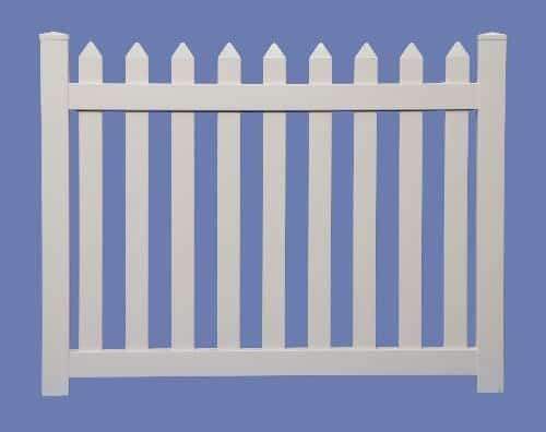 4 X 5 CONTEMPORARY STRAIGHT WALK GATE FOR 4 HIGH 7/8 X 3 PICKET SHARP - WHT